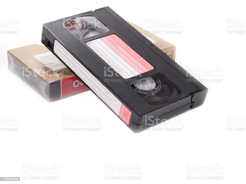 VHS Format Video Cassette Tape stock photo