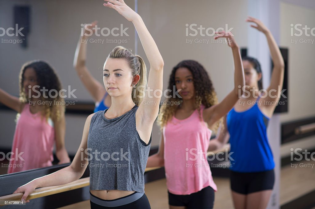 Formation During Ballet Class stock photo