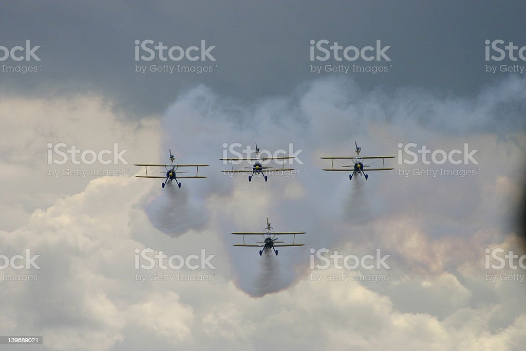 Formation flying royalty-free stock photo