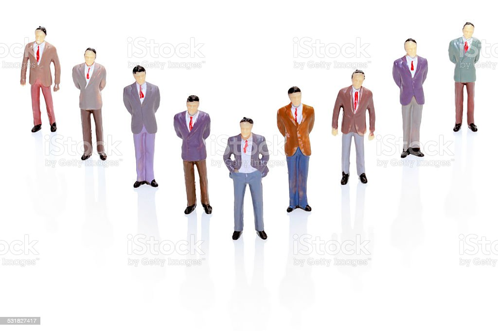 V Formation Hierarchy stock photo