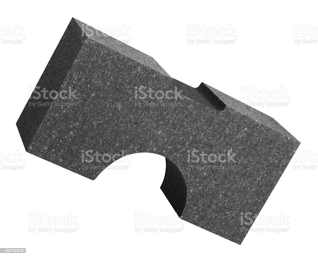 formed Polystyrene part stock photo