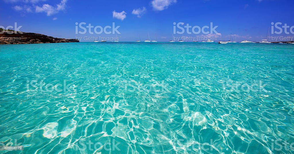 Formentera Cala Saona beach Balearic Islands stock photo