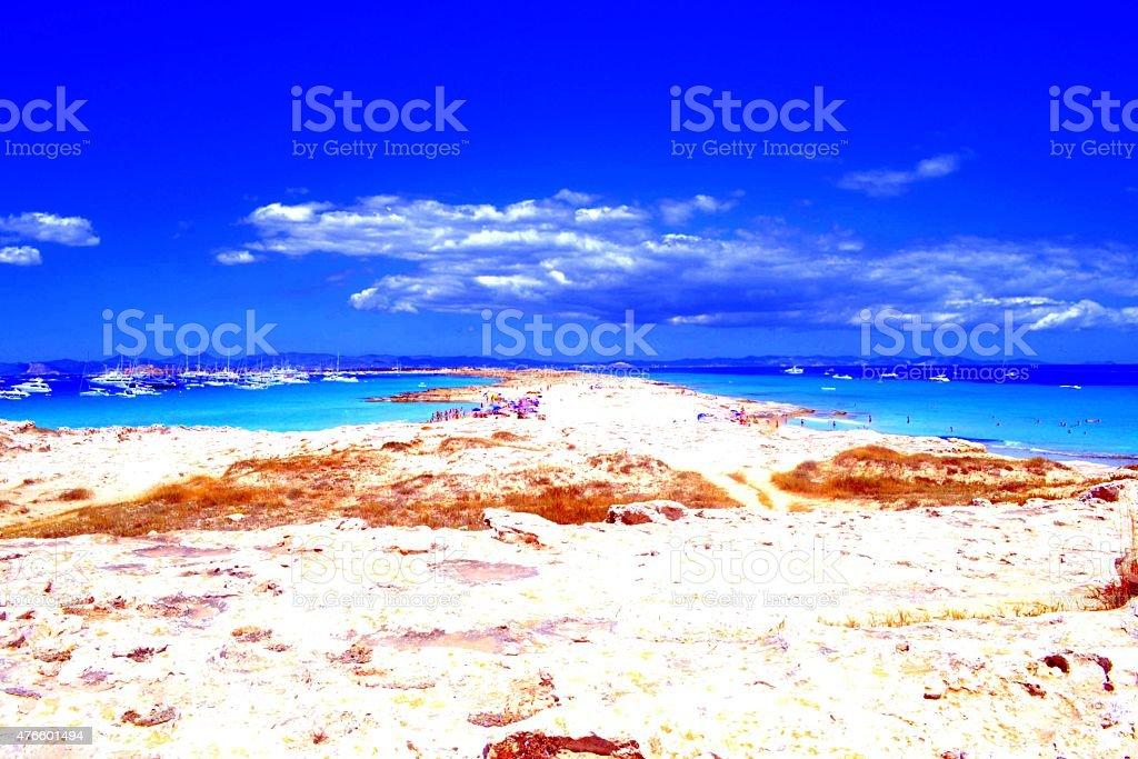 Formentera island. Playa Ses Illetes stock photo