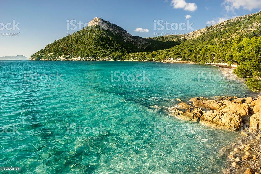 formentor beach in Majorca stock photo