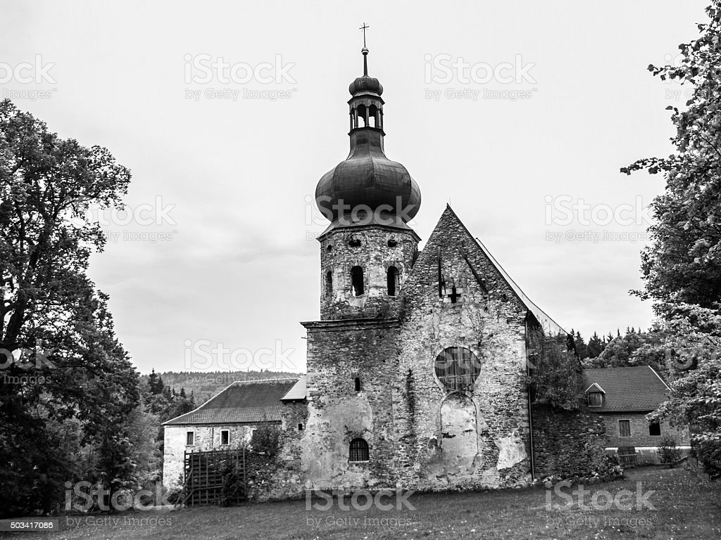 Former Augustinian Monastery in Pivon stock photo