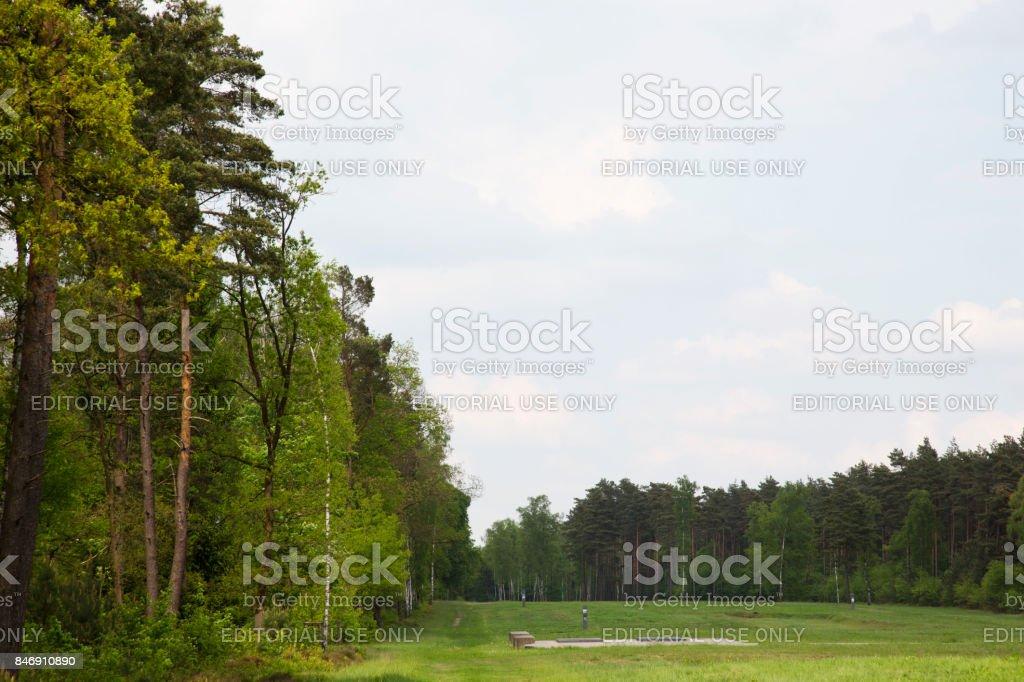 Former Bergen-Belsen grounds stock photo