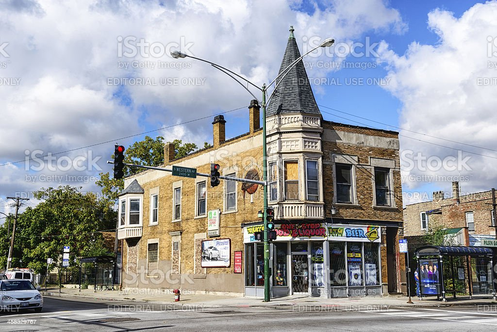 Former Brewery Tied House in McKinley Park, Chicago stock photo