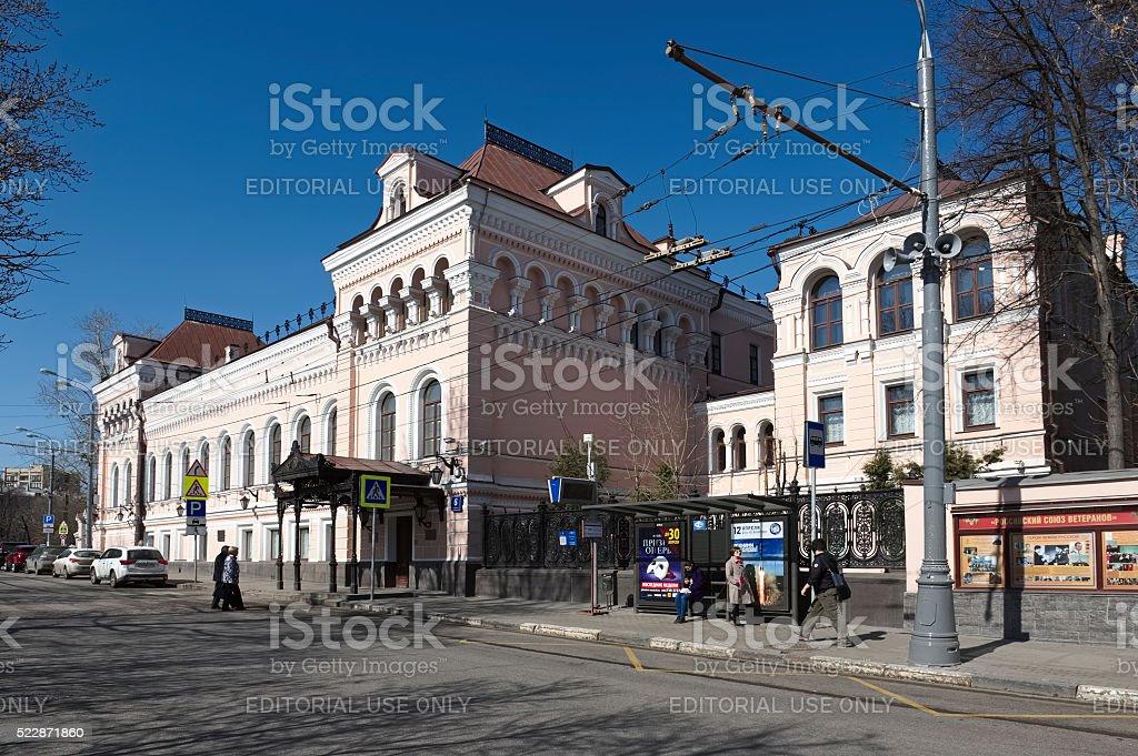 Former chief manor house Zamyatin-Tretyakova stock photo