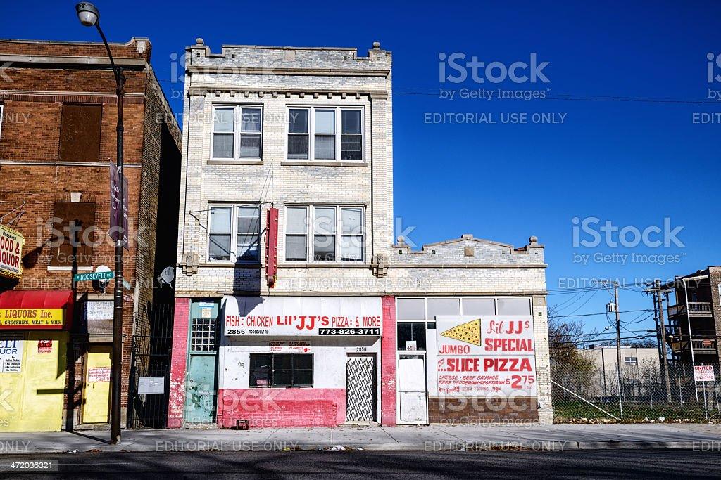 Former Cobra Records studio in Chicago stock photo