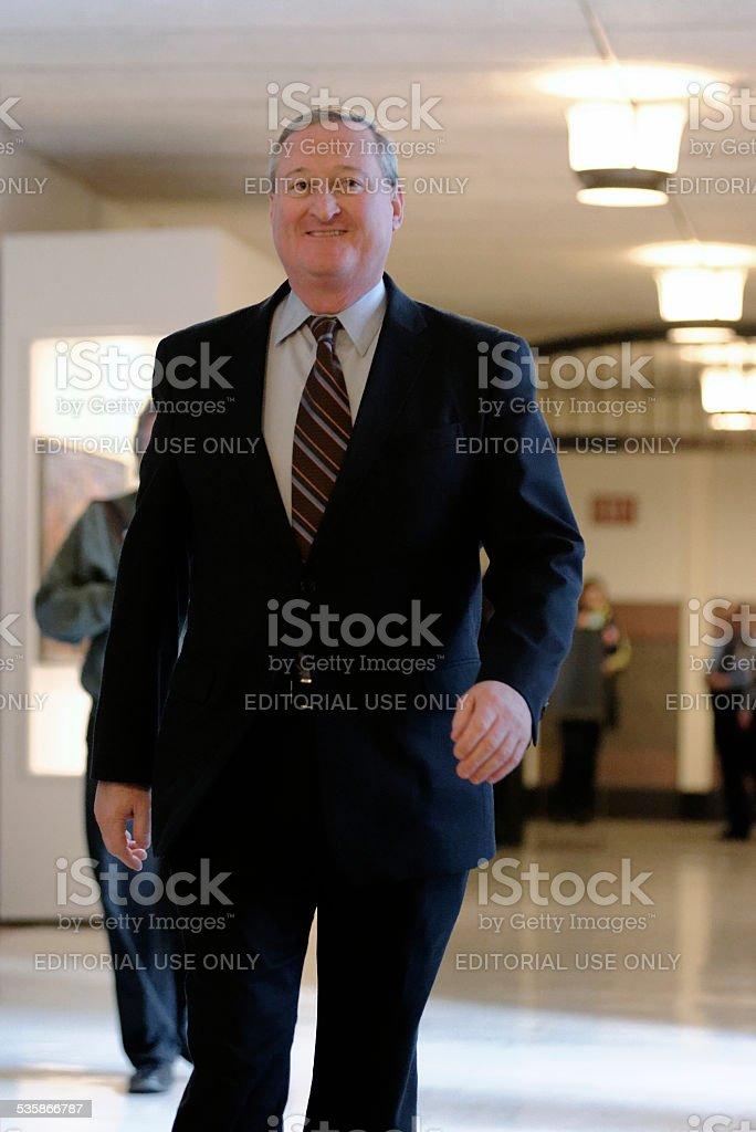Former Councilman Jim Kenney announces running for Philadelphia Mayor stock photo