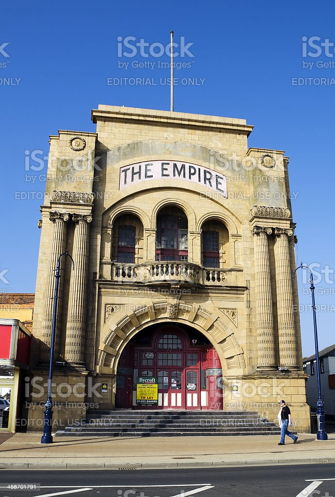 Former Empire Theatre on Great Yarmouth promenade stock photo