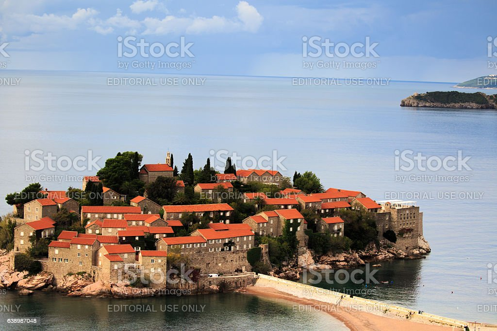 Former fishermen town, now a luxury hotel stock photo
