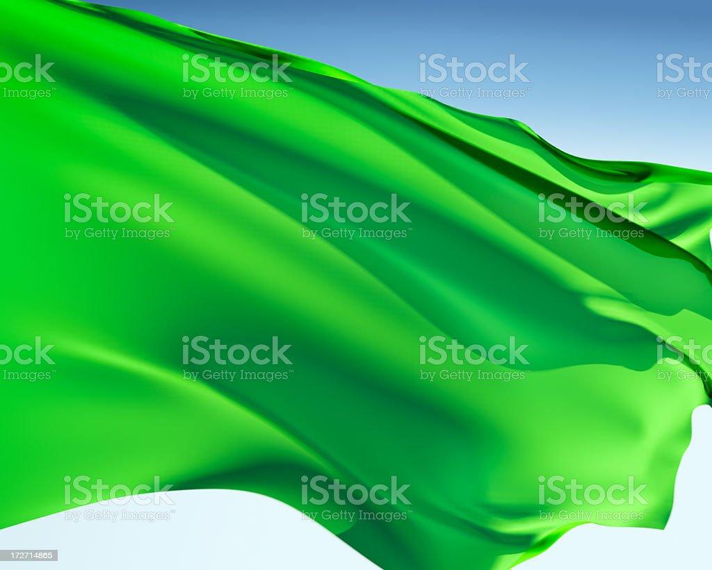 Former Flag of Libya / Green Banner stock photo
