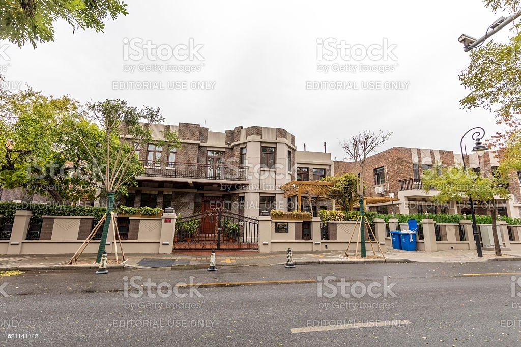 Former Foreign concession in Tientsin (Tianjing), China stock photo