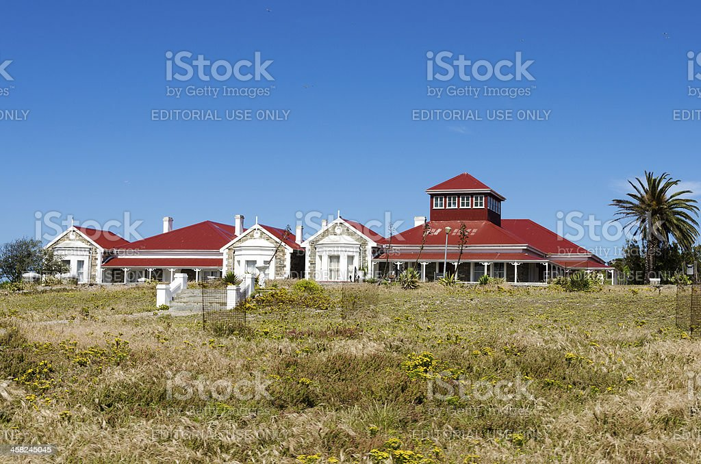 Former Governor's House on Robben Island royalty-free stock photo