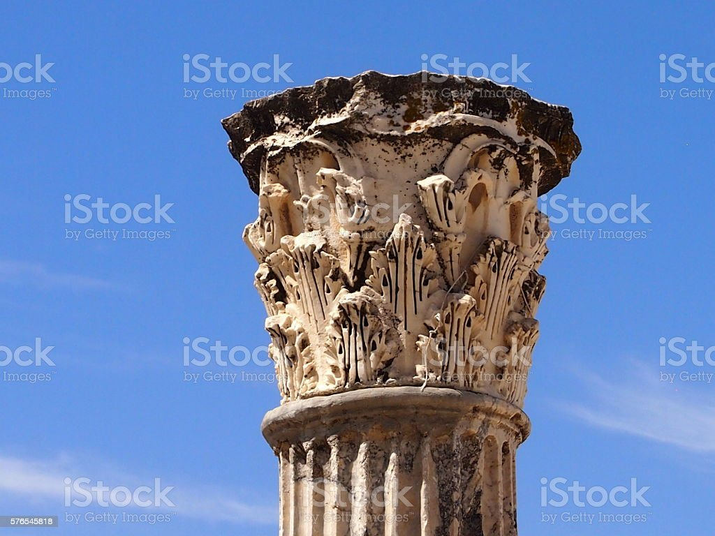 Former greatness of Carthage stock photo