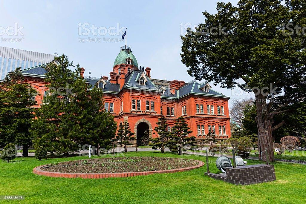 Former Hokkaido Government Office in Sapporo stock photo