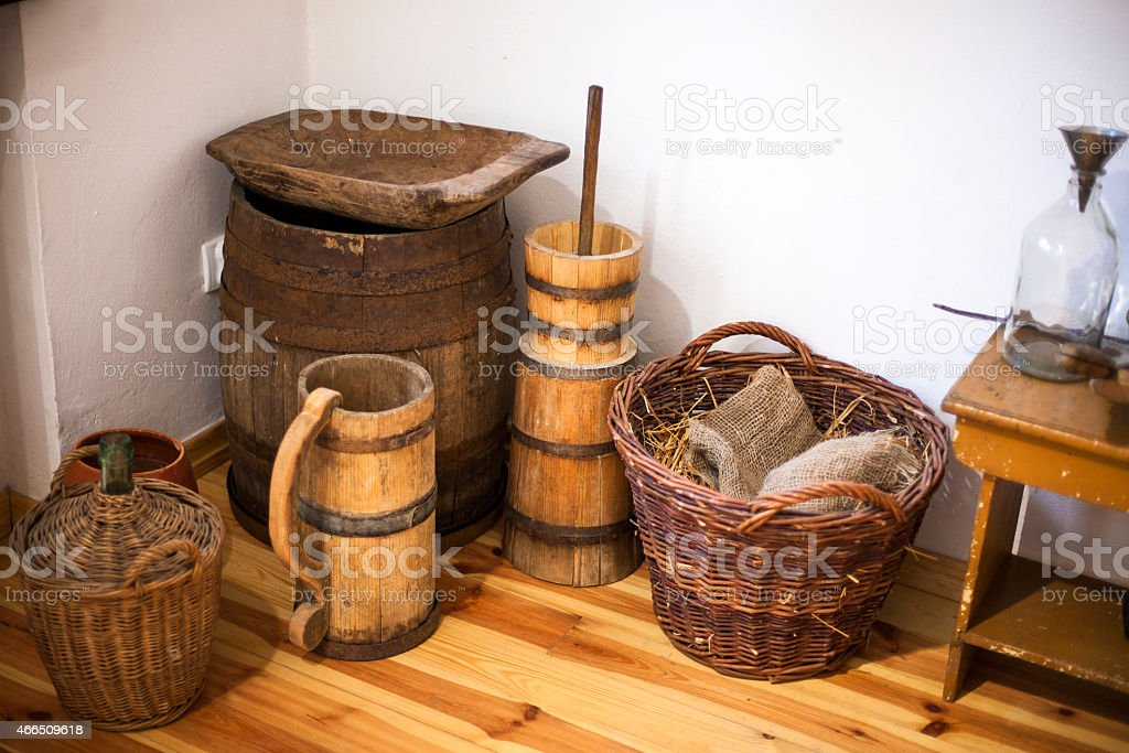 Former household objects stock photo