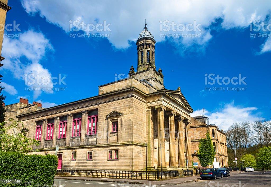 Former Kelvingrove Church in Glasgow, Scotland stock photo