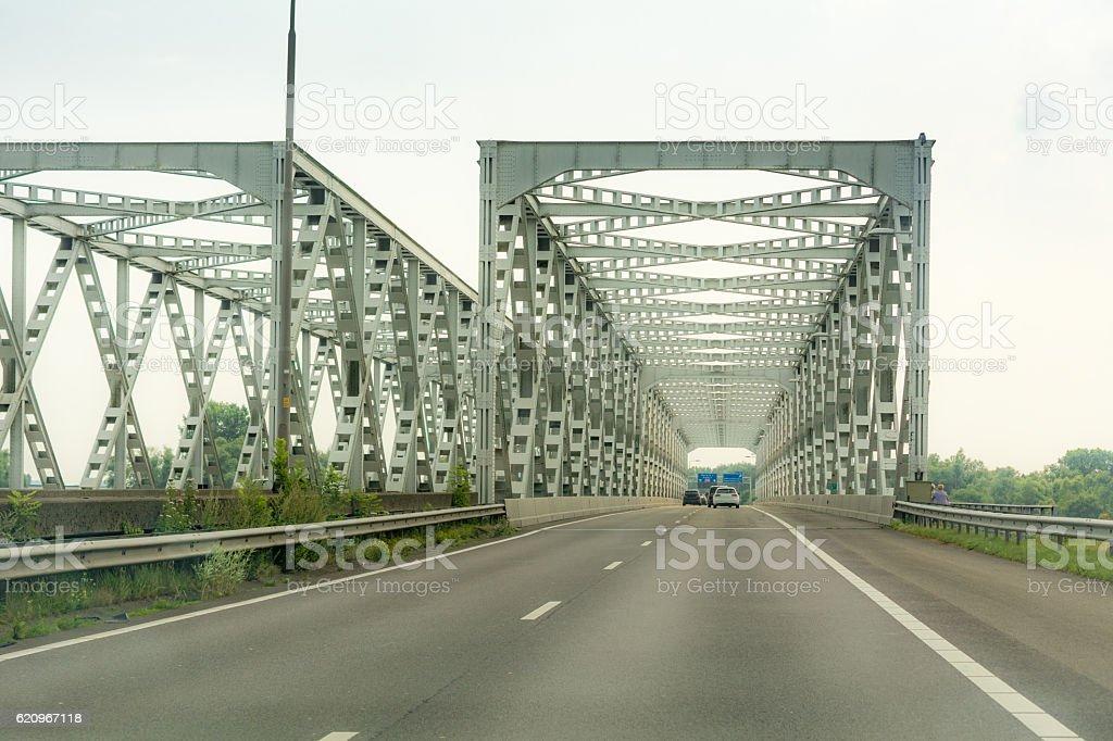 former moerdijk truss bridges stock photo