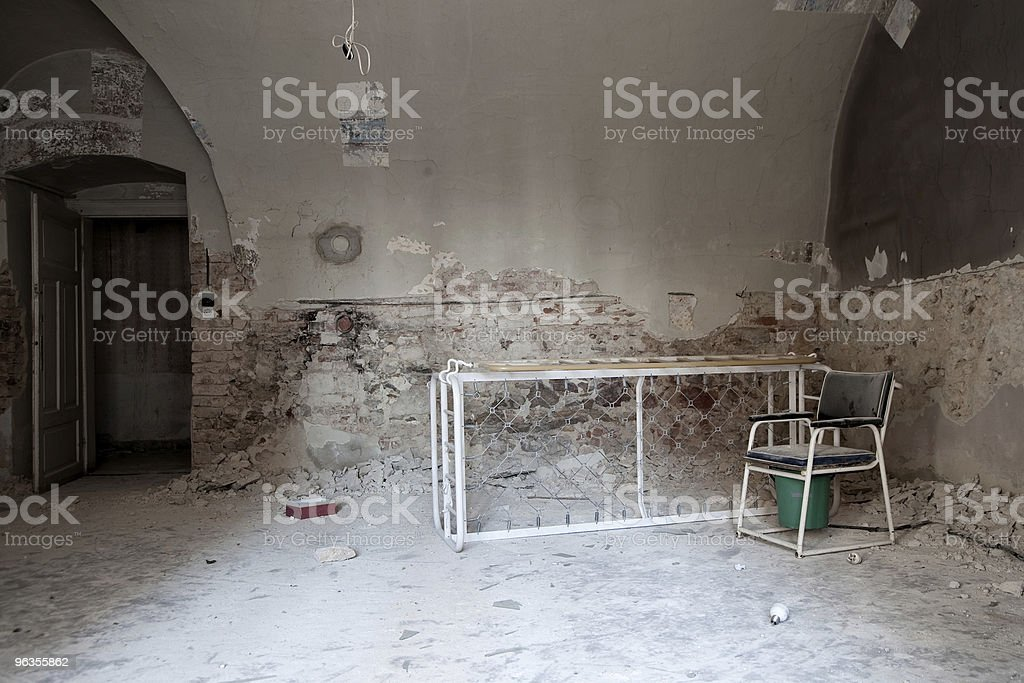 Former old people's home in Pécs, Hungary stock photo