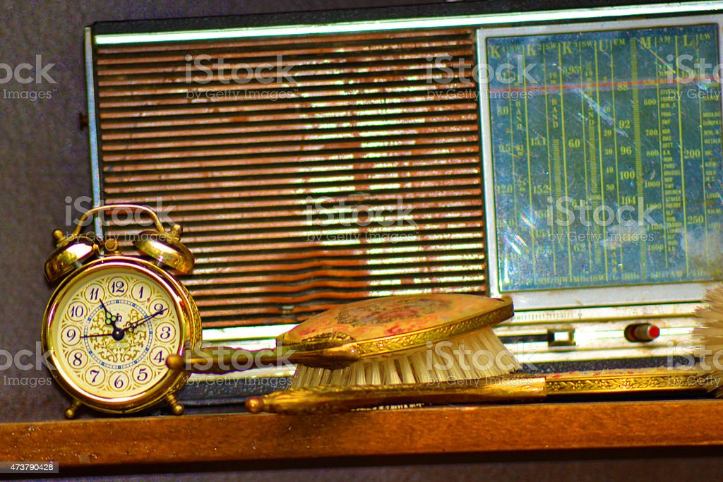Former radio end clock stock photo