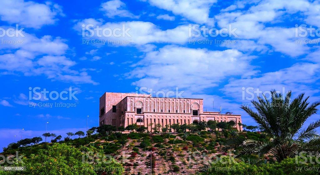 Former Saddam Hussein Palace ruins, Babylon Iraq stock photo
