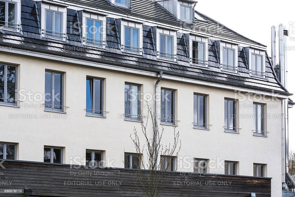 Former school building business school St Anno stock photo