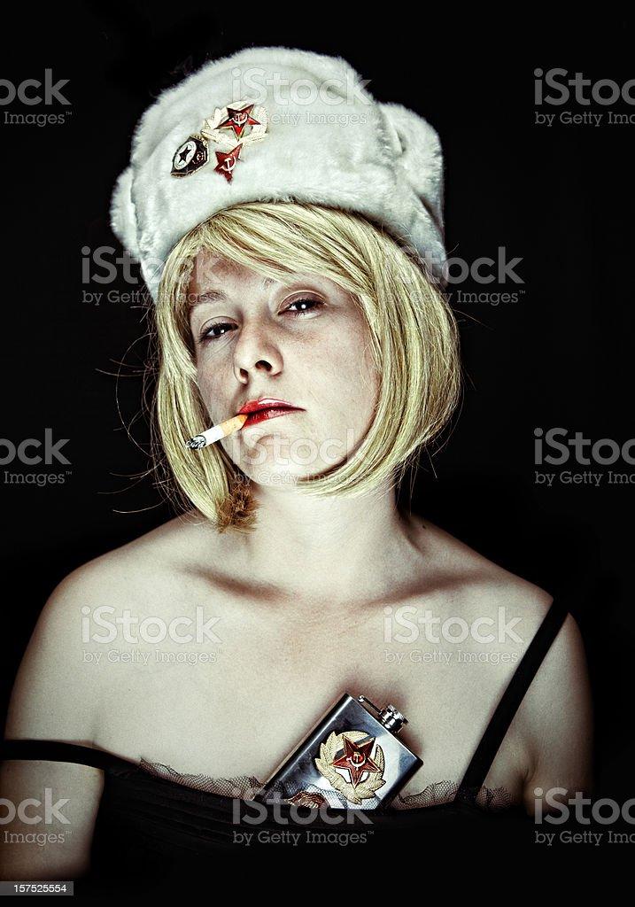 former soviet union girl stock photo