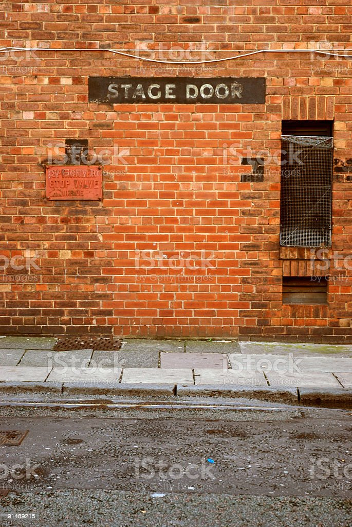 Former stage door royalty-free stock photo