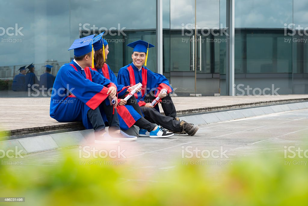 Former students stock photo