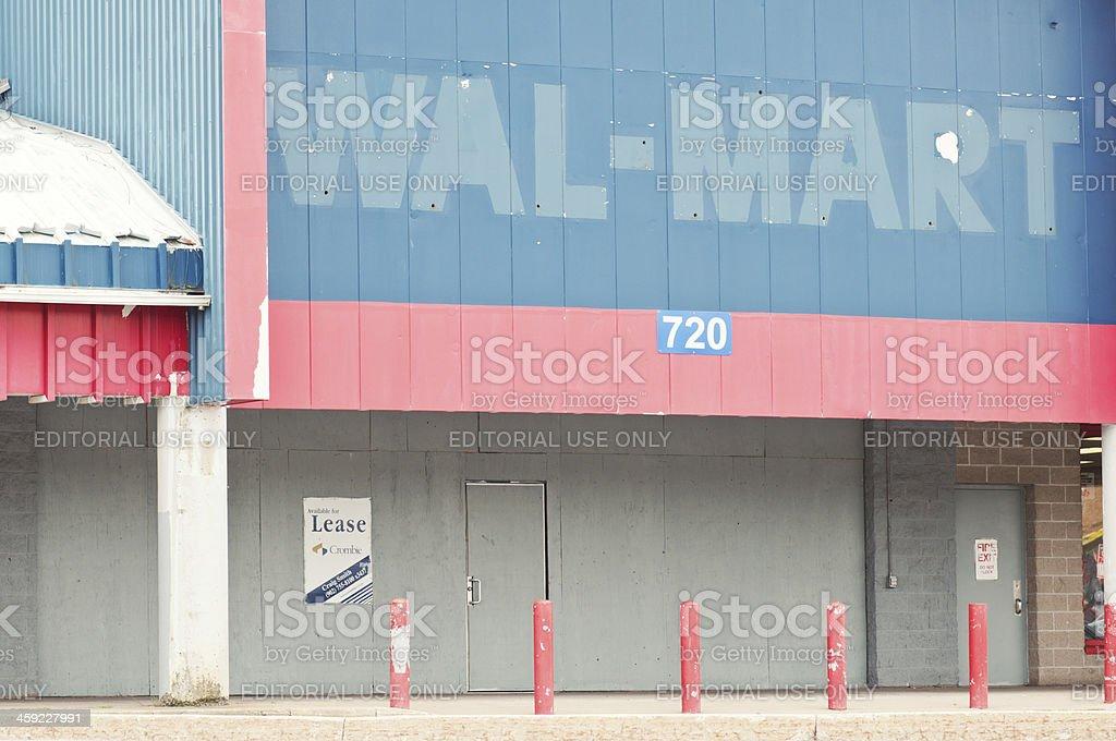Former Walmart Store stock photo