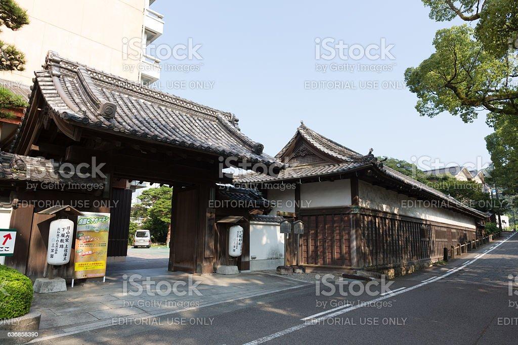 Former Yamauchi Residence in Kochi Prefecture, Japan stock photo