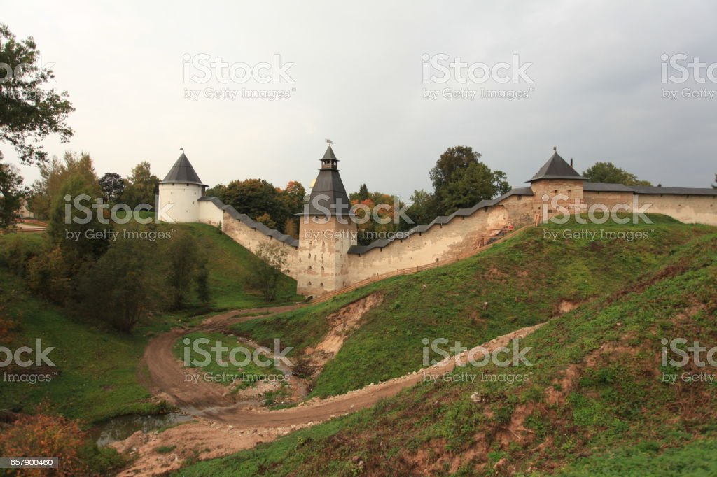 formidable medieval fortress Scenic view stock photo