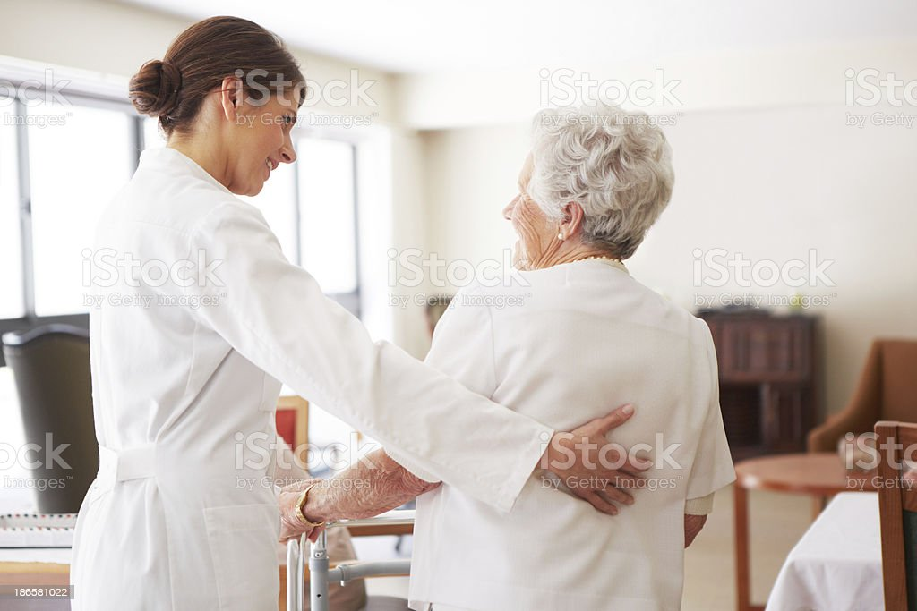Forming a bond through kindness royalty-free stock photo