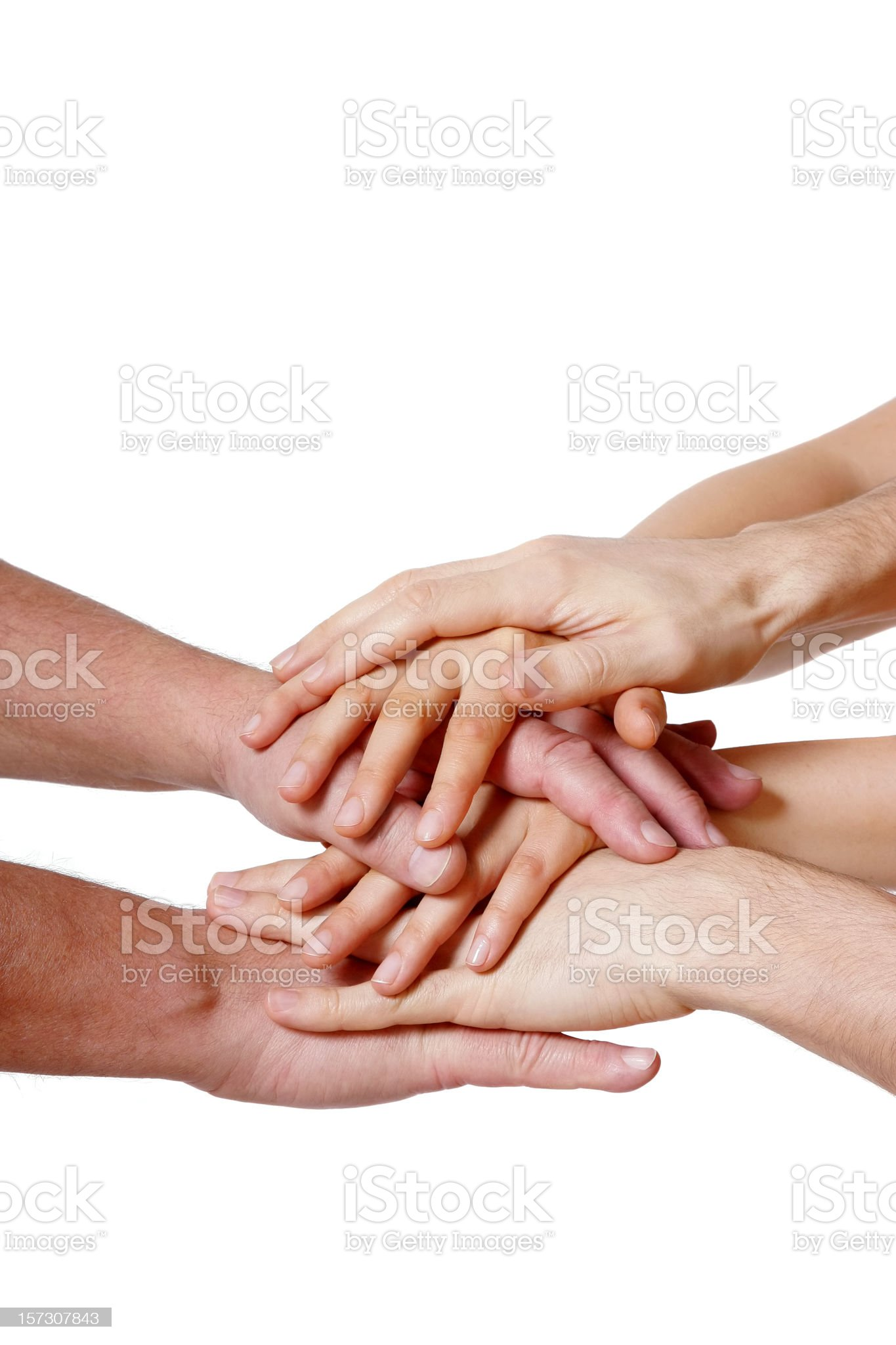Forming a team royalty-free stock photo