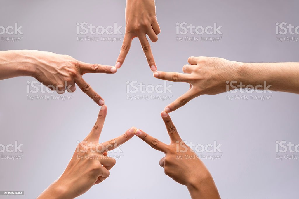 Forming star shape stock photo
