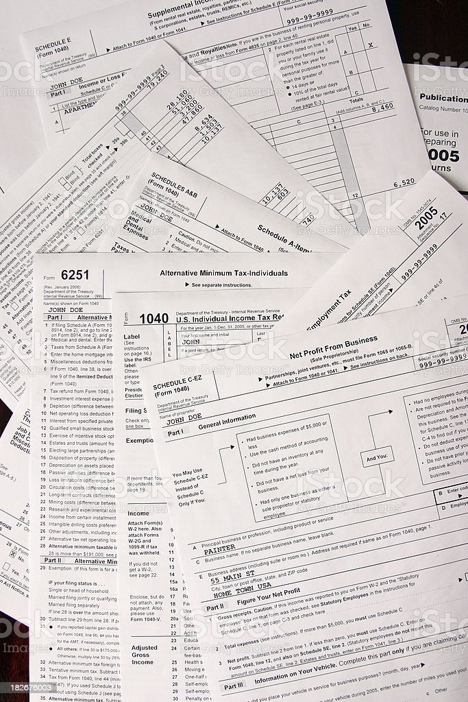IRS Forms stock photo