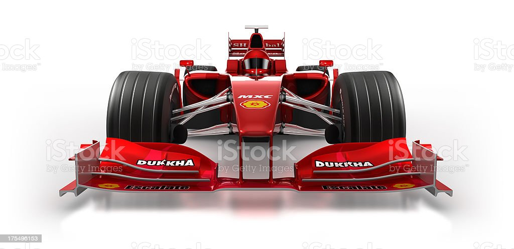 Formula 1 car in studio - isolated on white/clipping path stock photo