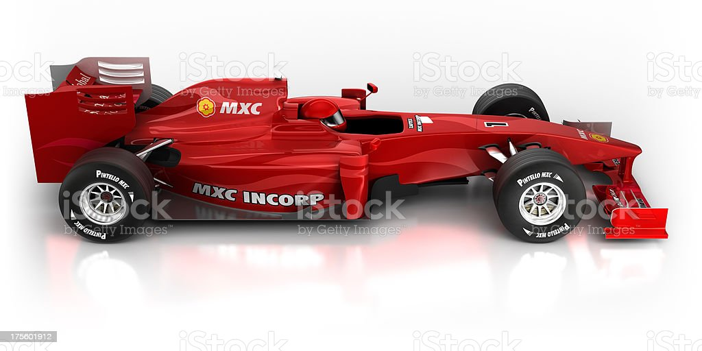 Formula 1 car in studio - isolated on white/clipping path royalty-free stock photo