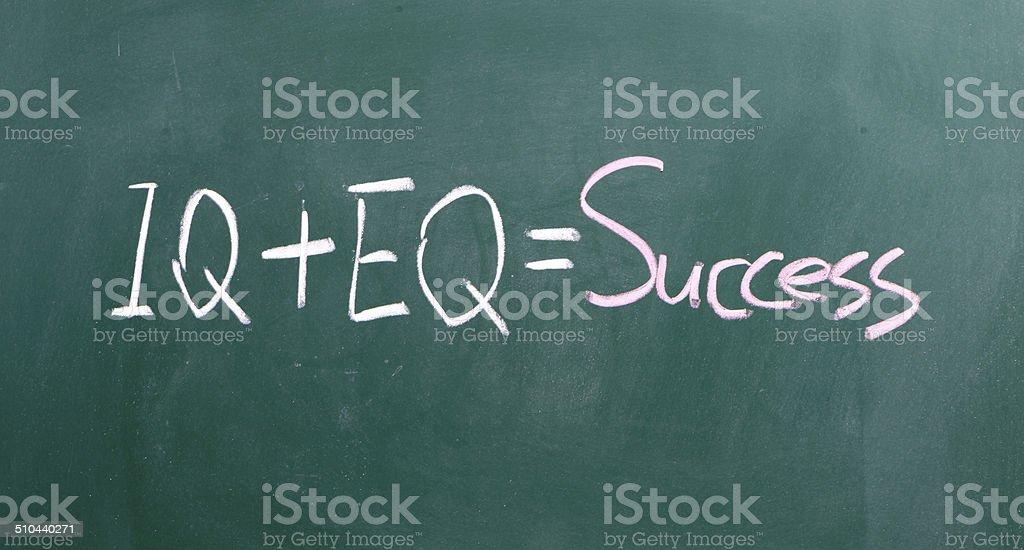 formula for success iq eq success concept stock photo