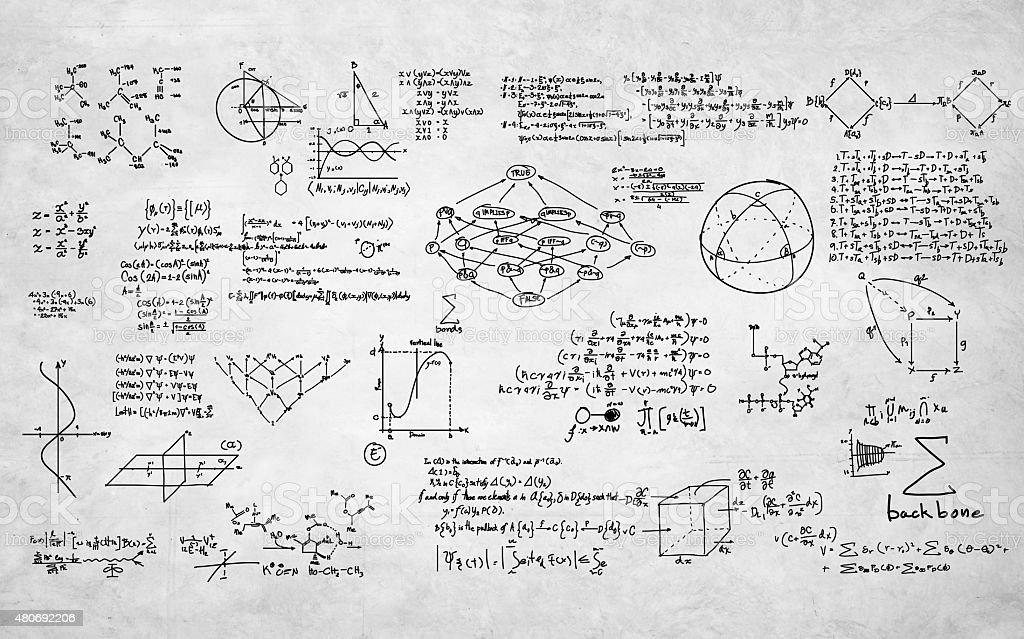 Formula Mathematics Equation Mathematical Symbol Geometry Inform stock photo