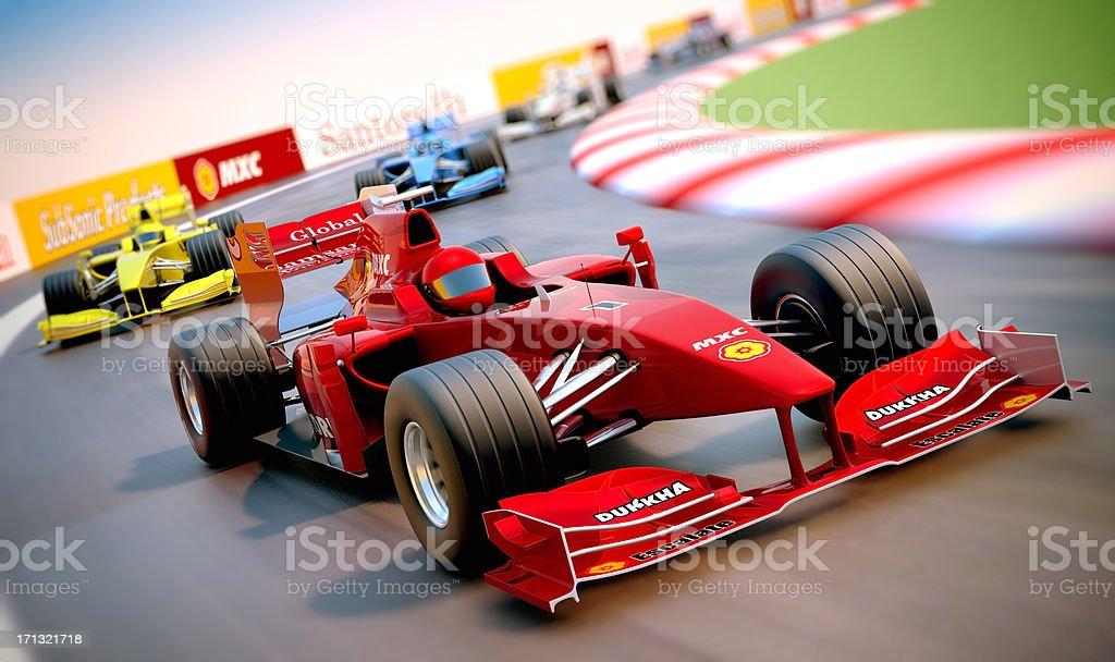 Formula One cars racing stock photo