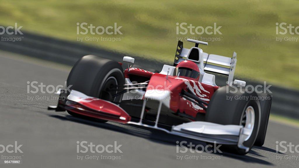 formula one race car on track stock photo