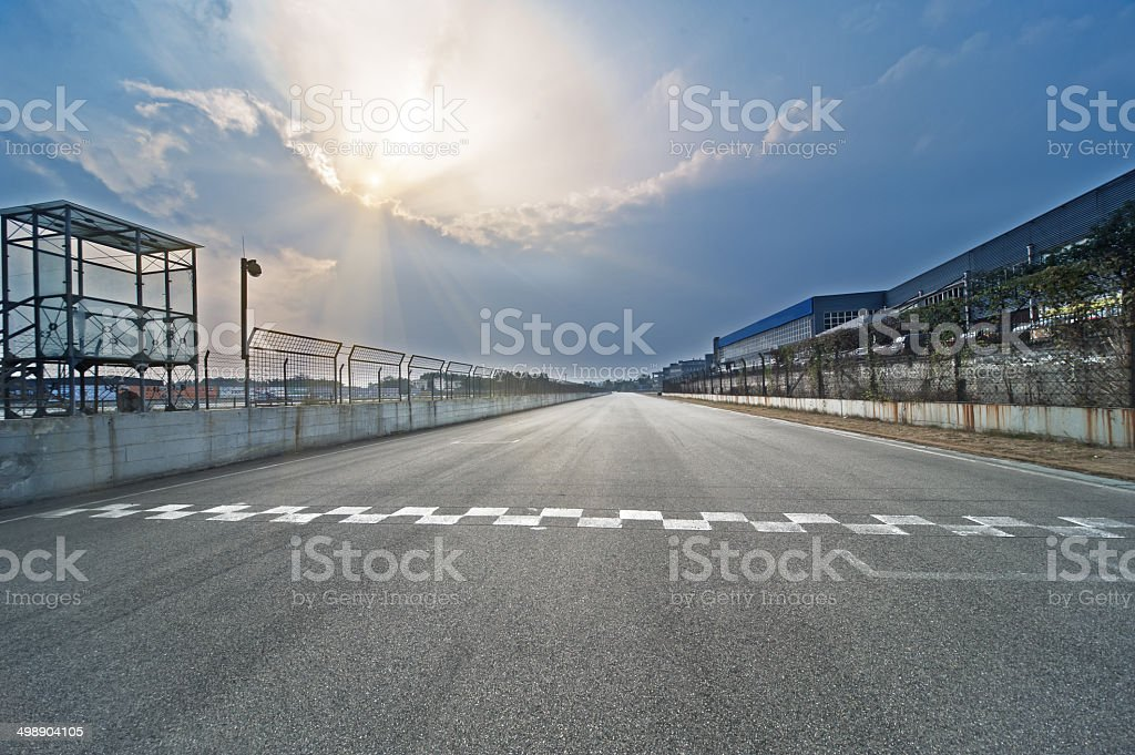 Formula one racing venues stock photo