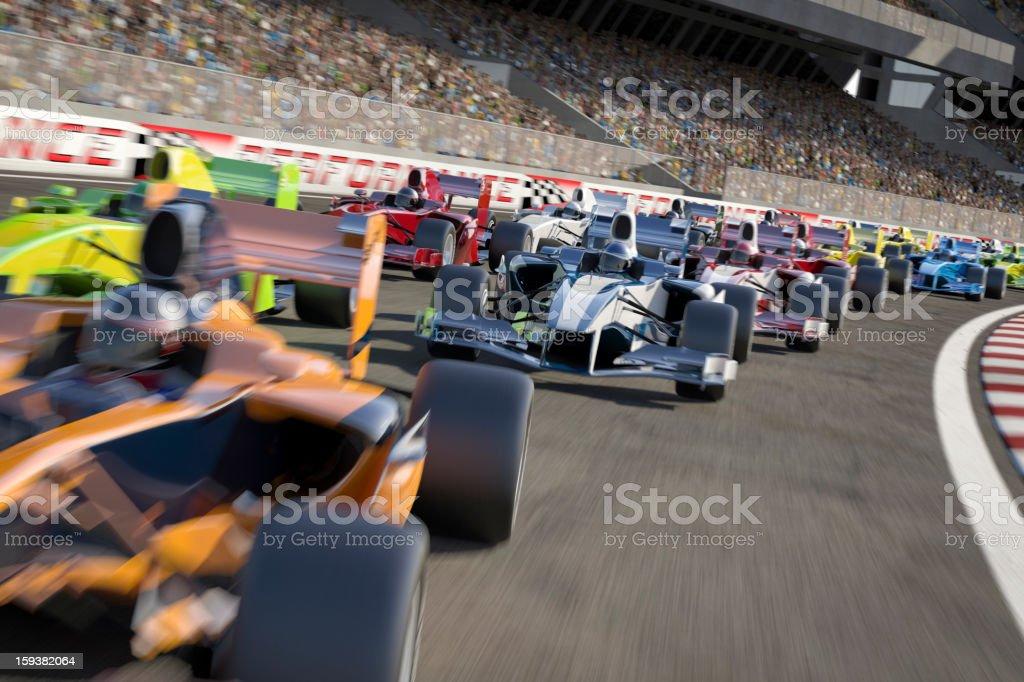 Formula One Type Racing royalty-free stock photo