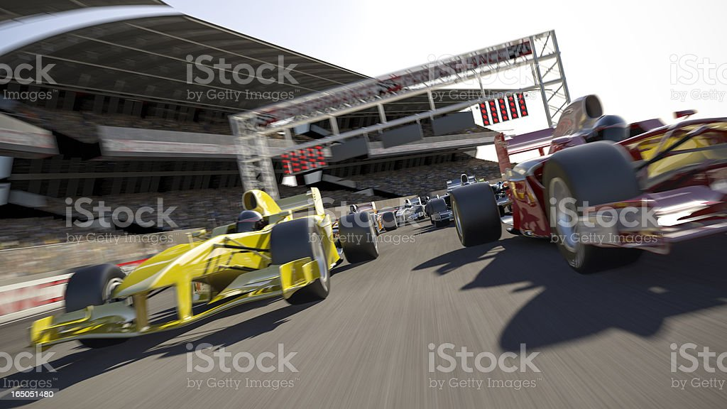 Formula One Type Racing royalty-free stock photo