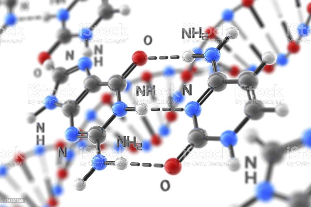 DNA Formula stock photo