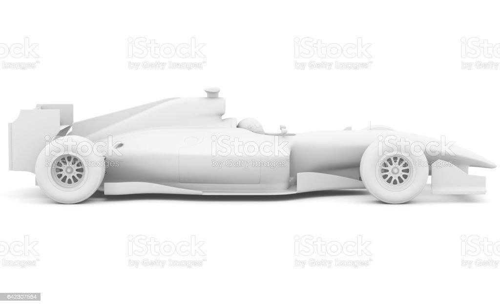 Formula race car. Side view stock photo