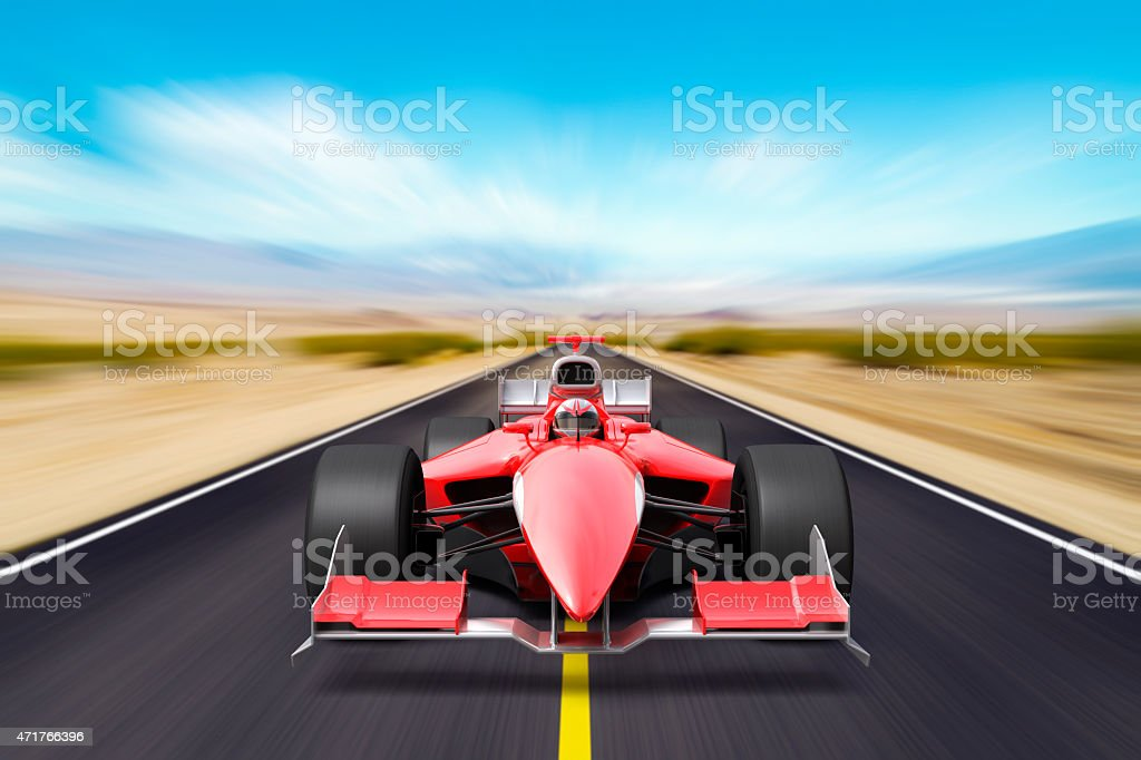 Formula race red car stock photo